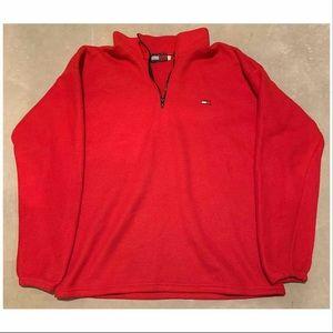 Vintage TOMMY HILFIGER Military Red Fleece |Mens L